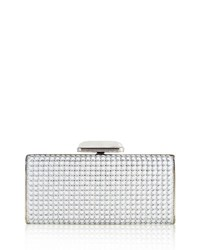 Judith Leiber Soft Sided Rectangle Clutch With Enamel Dots Champagne