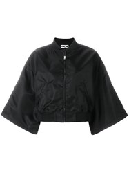 Hache Wide Sleeve Bomber Jacket Black