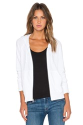 James Perse Classic Zip Up Hoodie White