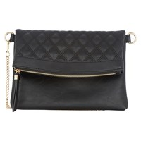 Oasis Quinn Quilted Clutch Bag Black