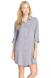 Lauren Ralph Lauren Plaid Twill Sleep Shirt Cooper Guncheck Houndstooth