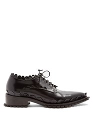 Simone Rocha Scallop Edged Leather Shoes Black
