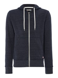 Jack And Jones Men's Hooded Zip Through Jumper Navy