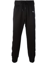 Off White Drawstring Track Pants Black