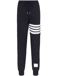 Thom Browne 4 Bar Print Track Pants Blue