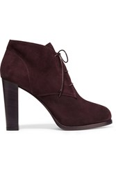 Bruno Magli Agna Suede Ankle Boots Red