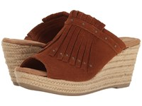 Minnetonka Quinn Brown Suede Women's Wedge Shoes