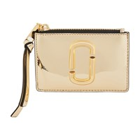 Marc Jacobs Zip Wallet With Wrist Strap Gold