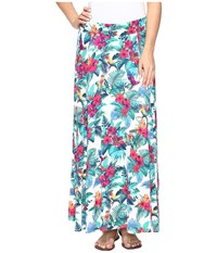 Tommy Bahama Jungle Florida Midi Skirt Bright White Women's Skirt