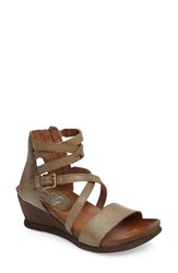 Miz Mooz Women's 'Shay' Wedge Sandal Sage Leather