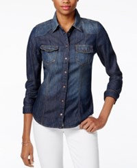 Guess Slim Fit Denim Shirt Rhythmic Wash