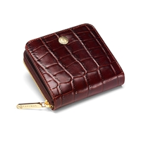 Aspinal Of London Mini Continental Zipped Coin Purse Brown