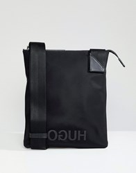 Hugo Logo Nylon Zip Bag Black Combi
