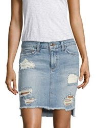Joe's Jeans Hi Lo Distressed Denim Pencil Skirt Tyrie