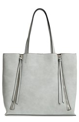 Chelsea 28 Chelsea28 Leigh Faux Leather Tote And Zip Pouch Grey Grey Micro