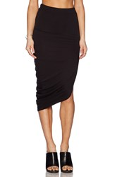 Bella Luxx Asymmetrical Drape Maxi Skirt Black