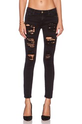 Acquaverde Scarlett Skinny Black Super Destroy