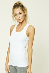 Forever 21 Active Ribbed Knit Tank Top White