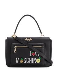 Love Moschino Fruity Lips Shoulder Bag Black
