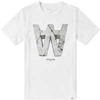 Wood Wood Aa Crack Tee White