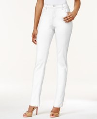 Lee Platinum Petite Gwen Straight Leg Colored Wash Jeans White