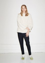 Lauren Manoogian Sherpa Crewneck Sweater Off White