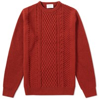 Edifice Cable Crew Knit Orange
