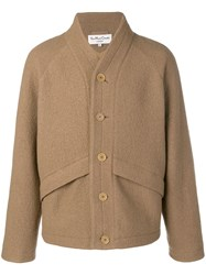 Ymc Single Breasted Fitted Coat Neutrals