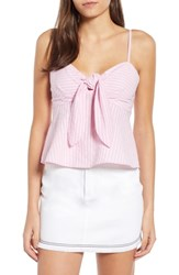 The Fifth Label Parcel Stripe Tie Front Tank Blossom With White