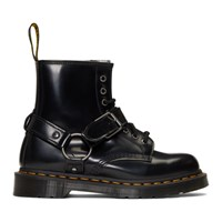 Dr. Martens Black 1460 Harness Lace Up Boots