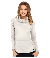 Burton Ellmore L S Dove Heather Hatch Stripe Women's Long Sleeve Pullover White