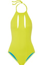 Cushnie Et Ochs Neon Cutout Swimsuit Yellow