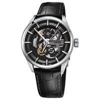 Oris 01 734 7714 4054 07 5 19 81Fc Men's Artix Automatic Skeleton Leather Strap Watch Black