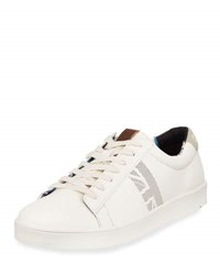 Ben Sherman Lorin Signature Lace Up Sneaker White