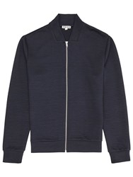 Reiss Fool Contrast Zip Jumper Navy