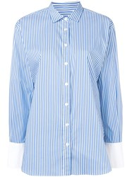 Closed Striped Button Shirt Blue
