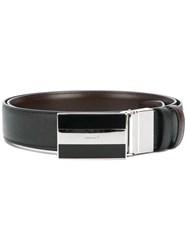 Bally Front Buckle Classic Belt Black
