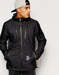 Supreme Being Supremebeing Jacket With Paint Splatter Print Black