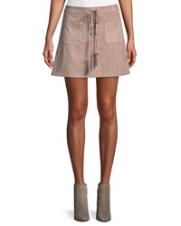 Cupcakes And Cashmere Marcel Lace Up Mini Skirt Neutral