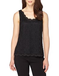 Tahari By Arthur S. Levine Lace Sleeveless Tank Top Black