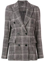 Circolo 1901 Checked Double Breasted Jacket Black