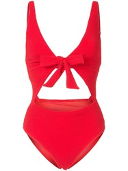 Suboo Giselle Tie Front Swimsuit Red