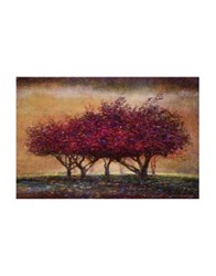 Marmont Hill Crabapple Blossoms Painting Print On Wrapped Canvas Dark Pink