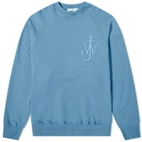 J.W.Anderson Jw Anderson Oversized Button Sleeve Crew Sweat Blue