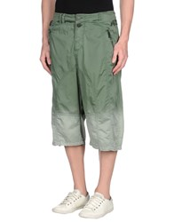 John Galliano Trousers 3 4 Length Trousers Men Green