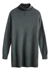 Sandwich Longline Wool Blend Jumper Green