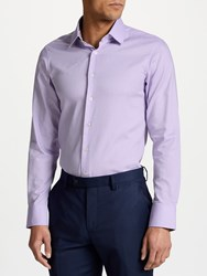 Smyth And Gibson Circle Weave 100S Cotton Slim Fit Shirt Lilac