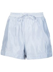 Alexander Wang T By Striped Shorts Blue