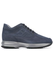 Hogan Lace Up Trainers Blue