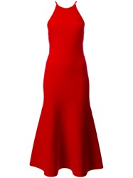 Alexander Wang Lace Up Halter Dress Red
